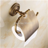 Antique Copper Brass Tissue Holder Bathroom Accessories Wall Mounted Waterproof toilet paper holder tissue boxes ZR2300