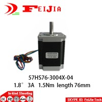 1pcs 57HS76-3004x-04  4-lead Nema 23 Stepper Motor  3A for 3D printer