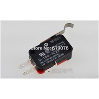 1PCS V-154-1C25 15A Micro Limit Switch Push Button SPDT Momentary Snap Action Inching switch,  travel switch, 15A, 250V, lim