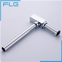 FLG Brass Bottle Trap Bathroom Sink Vanity Basin Pipe Waste Drain Pipe Siphon Drainer P-Trap