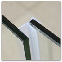 Draught Excluder Weatherstrip Draft Stopper Sealing Strip 12mm Glass Frameless Screen Shower Room Door Window Balcony Seals 1m F