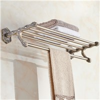 Towel Racks  Antique Wall Mounted Bathroom Accessories Golden Towel Holder Towel Bar Bathroom Hardware Hook Suite 3312