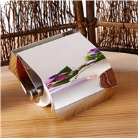 Wholesale 155x130 x50mm Stainless Steel Toilet Paper Holder with Srews Tissue Holder Roll Paper Holder Box Bathroom Accessories
