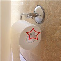 LumipartyRedcolourful Stainless Steel Bathroom Toilet Paper Holder Wall Mount VacuumSuction Cup Toilet Holder Tissue Roll Hanger