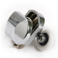 Nylon Shower Door Rollers Diameter Of Wheels 25mm Chrome Plated Appearance Wheels For Sliding Glass Doors Of Bathroom