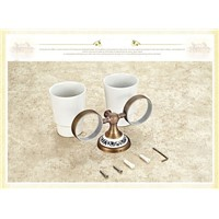 toothbrush holder bathroom accessory sanitary ware bathroom furniture toilet Brass antique porcelain Double tumbler cup holder