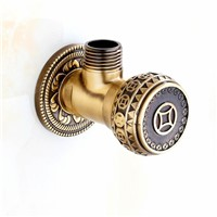 "High Quality Antique Brass and Gold 1/2"" Malex Bathroom Angle Stop Valve Faucet Filling Valves"