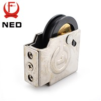 NED 90 Type Sliding Windows Pulley Copper Core Bearing Nylon Wheel 1.5mm Thickness Caster For Aluminum Alloy Door Hardware