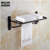 Antique Double towel shelf Whole brass Antique bath towel rack bathroom towel shelf bathroom towel holder