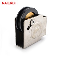 NAIERDI 90 Type Sliding Windows Pulley Copper Core Bearing Nylon Wheel 1.5mm Thickness Caster For Aluminum Alloy Door Hardware