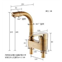 New Arrivals Water tap Dual Hole Bathroom Basin Faucet Antique Water Mixer Tap bathroom sink faucet High Quality Bathroom faucet