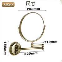 "XOXO Antique/Golden8""Double Side 1:1 and 1:3 magnifier Copper Cosmetic Bathroom Double Faced Bath Mirror wall mirror 7018B-7018G"