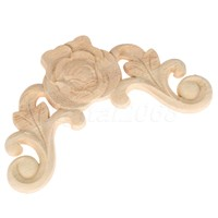 8*8 /10*10CM 4Pcs Wood Carved Corner Onlay Applique Unpainted Frame Door Decal Decoration  Furniture Home Decor Carpenter