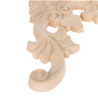 7*7/11*11CM 1Pcs  Wood Carved Corner Onlay Applique Unpainted Frame Door Decal Working Carpenter Flower