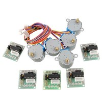 5pcs DC 5V Stepper Motor 28BYJ-48 With ULN2003 Driver Test Module Board 4-Phase For Power Tool