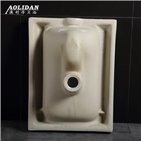 2017 No Back Outlet White Ceramic Real Limited Squatting Pit Before And After Sewage With Traps Urinal Deodorizing Toilet