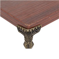 4PCS Antique Bronze Wooden Box Decorative Corner Foot With Mounting Screws