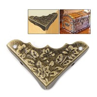 16pcs/set Classic Vintage Drawer Wood Box Beautiful Flower Corner Protector Decorative furniture accessories