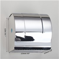Space Stainless Steel Toilet Paper Holder Roll Tissue Case with Cover Chrome