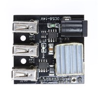 3 USB Mini Charging Module Power Bank DC7 ~ 14V Step-up Boost Module Black Electrical Components