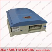 3KW 96V LCD display wind solar hybrid charge controller