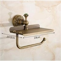 Total brass Europe style bronze bathroom paper holder toilet paper phone holder bathroom accessories