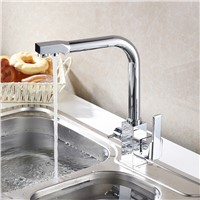 Chrome Brass Kitchen Faucet White/Black Bronze Dual Handle Filter Kitchen Sink Mixer Drinking Water Kitchen Faucet Crane Mixer