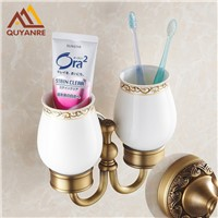 New arrival Brass Antique Brass Holder Cup&tumbler Holders Toothbrush Holder Bathroom Accessories