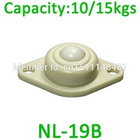 "NL-19B 3/4"" 19mm POM Ball Full Plastic bearing wheel ABS Nylon ball caster roller 15kg capacity NL19B Ball Transfer Unit"