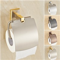 Modern Gold/black/silver Copper Toilet Paper Holder Tissue Box Antique Solid Brass Polished Roll Holder Bathroom Accessories H36