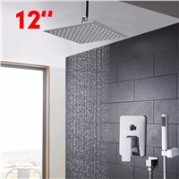 Shower 12 inch Bathroom Faucet  Rainfall Shower Heads Hot Cold Water Mixer Positive Shower Faucet