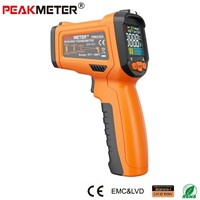 Official PEAKMETER PM6530A  Laser LCD Digital IR Thermometer Temperature Meter Gun Point -30~300 Degree Non-Contact Thermometer