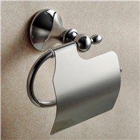 Modern Polished Toilet Paper Holder Silver Bathroom Roll Holder Stainless Steel Chrome Tissue Box Mounting 5600D