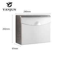 Toilet Paper Box Tissue  Holder Bathroom Accessories Stainless Steel Square Paper Holder Furniture Hardware  Yanjun YJ-8603