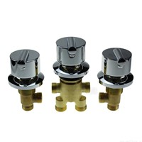 Copper surfing massage bathtub piece set bathtub shower cabin bathtub water inlet valve