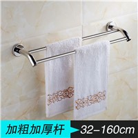 Stainless steel bathroom towel rack bathroom towel bar double 304 stainless steel towel bar single bar towel rack