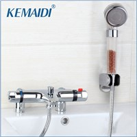 Deck Mounted Bath Shower Ceramic Thermostatic Faucets Valve Bathroom Shower Water Thermostatic Control Valve Mixer Faucet Tap