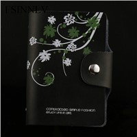 FSINNLV Genuine Leather Unisex ID Card Holder 11 Colors Card Wallet Credit Card Business Card Holder Protector Organizer DC57
