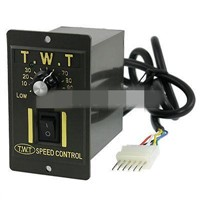 AC 220V 120W Electric Gear Motor Speed Controller Switch Black 6 Pins