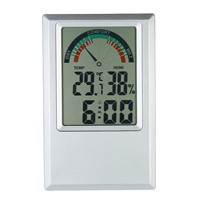 Digital Thermometer Hygrometer Temperature Humidity Meter Alarm Clock Max Min Value Comfort Level Display