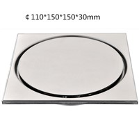 150*150*30mm Deluxe Solid SUS-304 Stainless Steel Drains Casting Extra-thick Super Heavy-duty Deodorizing Bathroom Floor Drain