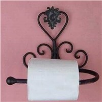 Bathroom UseBlack Classical Iron Toilet Paper Roll Holder Bathroom Wall Mount Rack toilet paper Holder