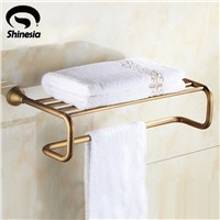Classic Antique Brass Bathroom Towel Rack Towel Bar Towel Shelf Bathroom Accessories Wall Mount