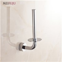 MEIFUJU Standing Toilet Paper Holder Bathroom Toilet Roll Holder Creative Paper Holders Chrome Toilet Paper Rack Tissue Holder