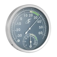 Stainless Steel Analog Dial Thermometer Hygrometer Temperature Humidity Meter -30~60 degree