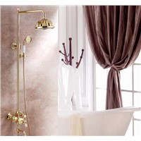 High-end European-style copper jade multi-function rotating shower with bathtub faucet shower XT-501