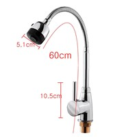 Zinc Alloy 360 Degree Rotatable Faucet Top Hot Cold Mixer Tap Rotating Faucets Practical Home Kitchen Wash Basin Faucets Tools