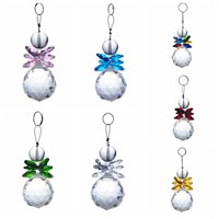 7pcs/lot mixcolors Crystal Feng Shui Ball Hanging pendants crystal chandelier parts Window Ornaments Xmas Wedding decoration