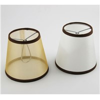 2PCS DIA 12.2cm/ 4.80 inch Modern Vase Shaped Lamp With Transparent Lampshade, PVC+Fabric Material,White/Brown Color,Clip on