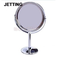 1PCS Make Up Mirrors Stainless Steel Holder Cosmetic Bathroom Double-Sided Desk Makeup Mirror Dia 8cm Women Home Office Use